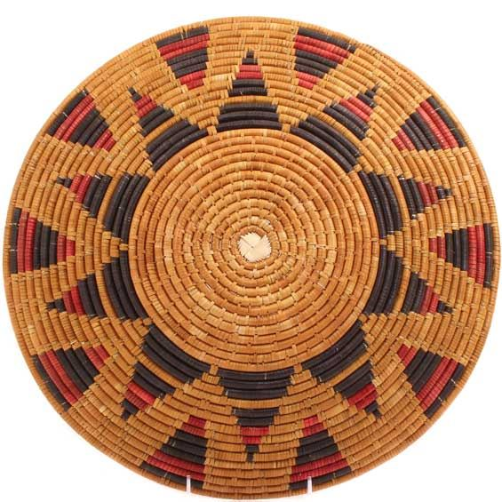 African Basket - Zulu Ilala Palm - Shallow Bowl - 15.5 Inches Across - #64407