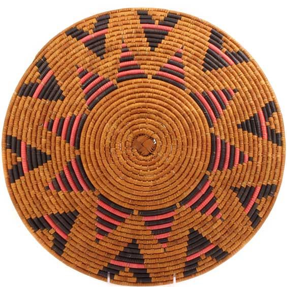 African Basket - Zulu Ilala Palm - Shallow Bowl - 16 Inches Across - #64409