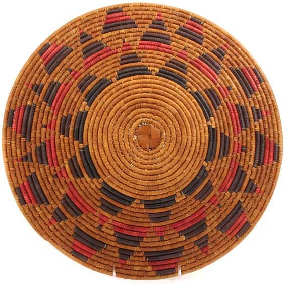 African Basket - Zulu Ilala Palm - Shallow Bowl - 16 Inches Across - #64411