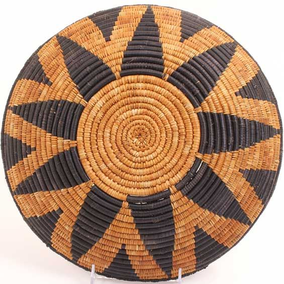 African Basket - Zulu Ilala Palm - Shallow Bowl - 12 Inches Across - #64518